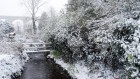 The bridge in the snow..   #snowday